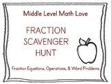 Fraction Equations & Operations Scavenger Hunt