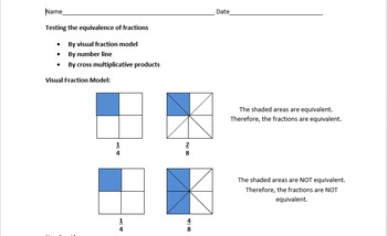 Fraction Equivalence Handout