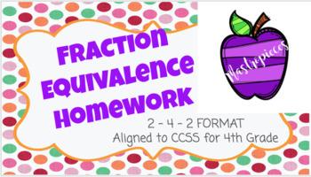 Fraction Equivalence Homework
