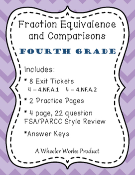 Fraction Equivalence and Comparisons for Fourth Grade: Exi