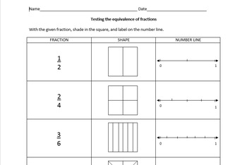 Fraction Equivalence Worksheet
