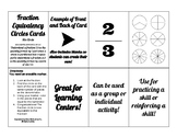 Fraction Equivalency 6 Circle (Pie) Cards for Learning Act