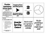 Fraction Equivalency Circle (Pie) Cards for Learning / Act