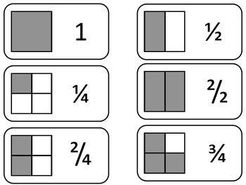 photo regarding Fraction Cards Printable identify Portion Equivalents printable Flash Playing cards. Preschool math fractions flashcards.