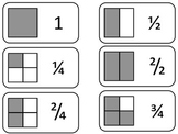 Fraction Equivalents printable Flash Cards. Preschool math