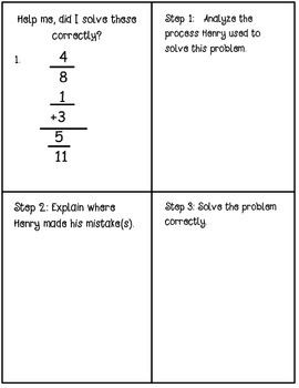 Fraction Error Analysis: Help Henry Find His Mistakes