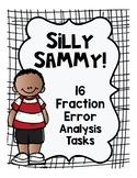 Fraction Error Analysis Math Tasks with Silly Sammy!