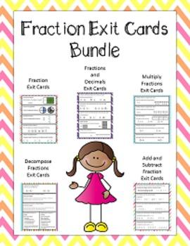 Fraction Unit (Exit Cards Bundle)