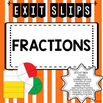 Fraction Exit Slips