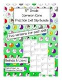 Fraction Exit Ticket Bundle 5th Grade Common Core
