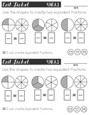 Fraction Exit Tickets: Equivalence & Comparison English/Spanish