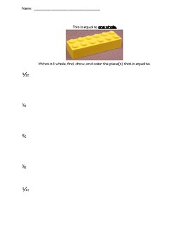 Fraction Exploration Activity:  Learning Fractions with Legos