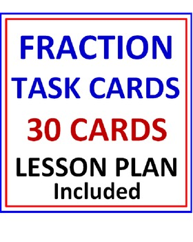 Fraction FREE Task Cards with Lesson Plan PREVIEW
