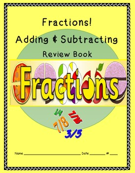 Fraction FREEBIE! Adding & Subtracting Review Book