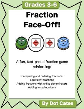Fraction Face-Off! A Fun F... by Dot Cates | Teachers Pay Teachers