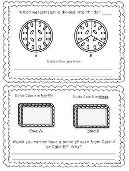 Fraction Families Booklet-Black & White Version