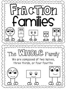 Fraction Families Booklet-Black & White Version