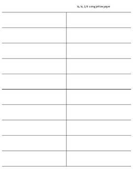 Fraction Family Flip book template pages | TpT