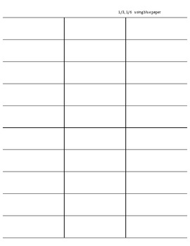 Fraction Family Flip book template pages