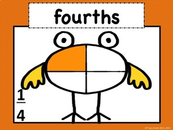 Fraction Family - Learn About Fractions! Common Core 2.G.3 and 3.G.2