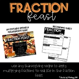 Fraction Feast: A Multiplying Fractions Thanksgiving Activity