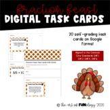 Fraction Feast DIGITAL Task Cards | Self-Grading/Google Forms