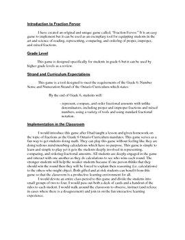 Fraction Fervor Math Game