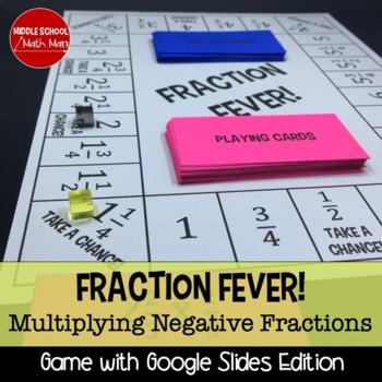 Fraction Fever! Multiplying Fractions Board Game (Negative Number Edition)