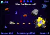 Fraction Fighters - Operations, naming and reducing. (Play at RoomRecess.com)
