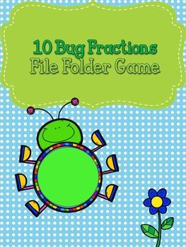 Fraction File Folder Game- Bugs