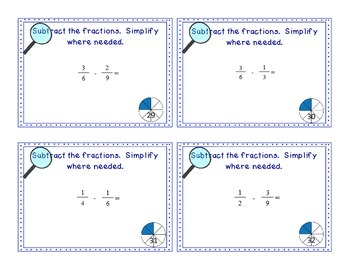 Fraction Files - Add & Subtract Fractions with Unlike Denominators