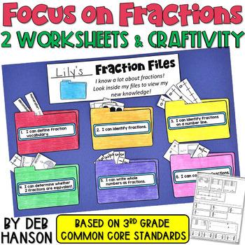 Fraction Files Craftivity/Assessment  (based on 3rd Grade CCSS)