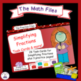 Fraction Files - Simplify Fractions task cards