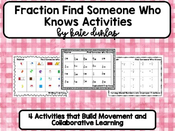 Fraction Find Someone Who Knows