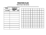 Fraction Flag 4.NF.6 activity