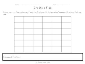 Fraction Flags- Making Equivalent Fractions Visual