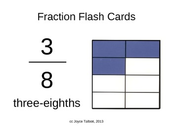 Fraction Flash Card PowerPoint Mixed