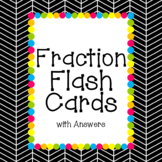 Fraction Flash Cards with Answers