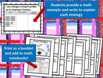 Fraction Flexibility--Interactive Math Notebook Pages (TEKS & COMMON CORE)**WORD