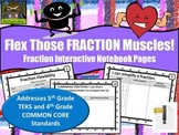 Fraction Flexibility--Interactive Math Notebook Pages (TEKS & COMMON CORE)***ZIP