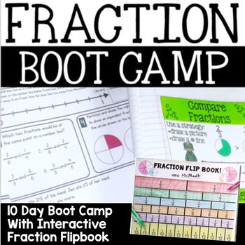 Fraction Flip Book: An Interactive Math Manipulative WITH Fraction Boot Camp