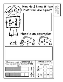 Fraction Flip Book: Working With Fractions