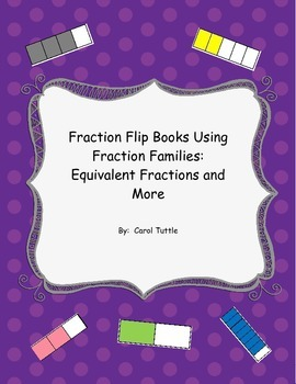 Fraction Flip Books Using Fraction Families:  Equivalent Fractions and More