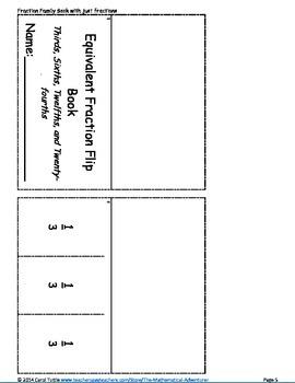Fraction Flip Books Using Fraction Families SAMPLE