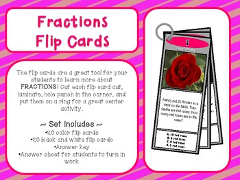 Fraction Flip Cards
