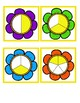 Fraction Flower Matching Cards