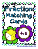 Fraction Flower Matching Cards - Black & White