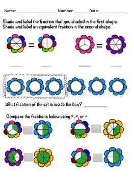 Fraction Flowers