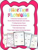 Fraction Flowers Math Center- Adding and Subtracting Fractions