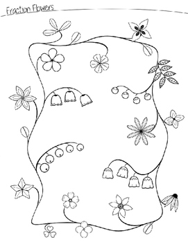 Fraction Flowers Math Worksheets